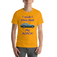Bella and Canvas Short-Sleeve Unisex T-Shirt: Still had Aceca blue text