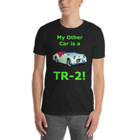 Gildan Short-Sleeve Unisex T-Shirt: TR-2 green text