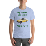 Bella and Canvas Short-Sleeve Unisex T-Shirt: MGB-GT BRG text