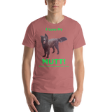 Bella and Canvas Short-Sleeve Unisex T-Shirt: Mutt added green text