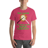 Bella and Canvas Short-Sleeve Unisex T-Shirt: Joe Lucas inventor of the short circuit green text