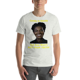 Bella and Canvas Short-Sleeve Unisex T-Shirt: Candy is Dandy BF yellow text