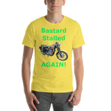 Bella and Canvas Short-Sleeve Unisex T-Shirt: BSA Gold Star green text