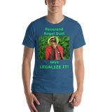 Bella and Canvas Short-Sleeve Unisex T-Shirt: Angel Dust LEGALIZE IT green text