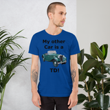 Bella and Canvas Short-Sleeve Unisex T-Shirt: TD black text