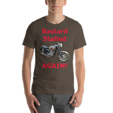 Bella and Canvas Short-Sleeve Unisex T-Shirt: BSA Gold Star red text