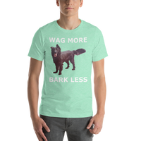 Bella and Canvas Short-Sleeve Unisex T-Shirt: wag more white text