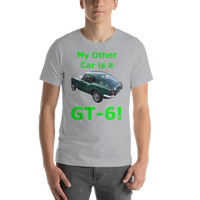 Bella and Canvas Short-Sleeve Unisex T-Shirt: GT-6 green text