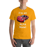 Bella and Canvas Short-Sleeve Unisex T-Shirt: Alfa Male white text
