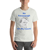 Bella and Canvas Short-Sleeve Unisex T-Shirt: No Kavanaugh blue text