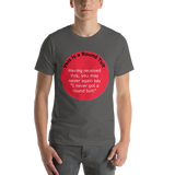 Bella and Canvas Short-Sleeve Unisex T-Shirt: Round Tuit red