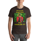 Bella and Canvas Short-Sleeve Unisex T-Shirt: Angel Dust LEGALIZE IT yellow text