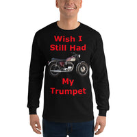 Gildan Long Sleeve T-Shirt: Still had Trumpet red text