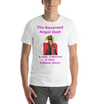 Bella and Canvas Short-Sleeve Unisex T-Shirt: The Reverend Angel Dust Magenta Text