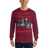 Gildan Long Sleeve T-Shirt: Squariel red text