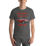 Bella and Canvas Short-Sleeve Unisex T-Shirt: 100-4 red text