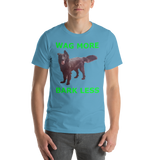 Bella and Canvas Short-Sleeve Unisex T-Shirt: Wag more green text