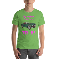 Bella and Canvas  Short-Sleeve Unisex T-Shirt: TR-6 magenta text