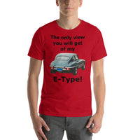 Bella and Canvas Short-Sleeve Unisex T-Shirt: only view E Type black text