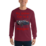 Gildan Long Sleeve T-Shirt: Morgan red text