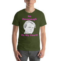 Bella and Canvas Short-Sleeve Unisex T-Shirt: no kavanaugh magenta text