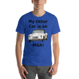 Bella and Canvas Short-Sleeve Unisex T-Shirt: MGA black text