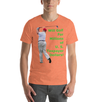 Bella and Canvas Short-Sleeve Unisex T-Shirt: millions of taxpayer dollars green text