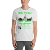 Gildan Short-Sleeve Unisex T-Shirt: Help Wanted Green Text