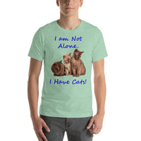 Bella and Canvas Short-Sleeve Unisex T-Shirt: Have cats blue text