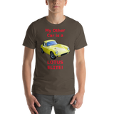 Bella and Canvas Short-Sleeve Unisex T-Shirt: Lotus Elite red text