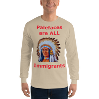 Gildan Long Sleeve T-Shirt: Palefaces red text