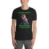 Gildan Short-Sleeve Unisex T-Shirt: Sexually active green text