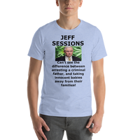 Bella and Canvas Short-Sleeve Unisex T-Shirt: Jeff Sessions difference, black text