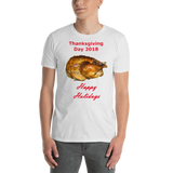 Gildan Short-Sleeve Unisex T-Shirt: Thanksgiving 2018 roast red text