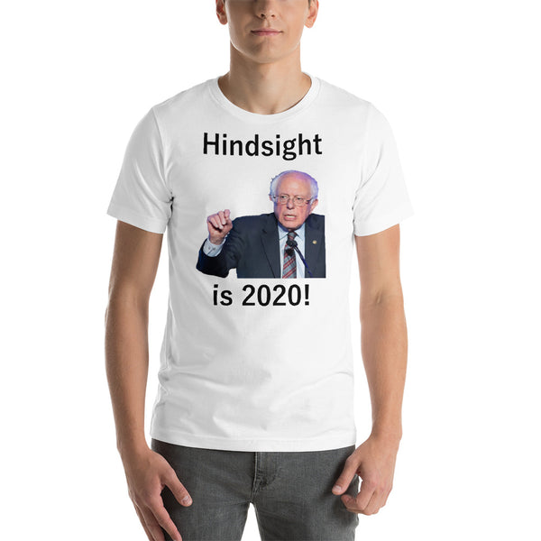 Bella and Canvas Short-Sleeve Unisex T-Shirt: Hindsight is 2020 black text