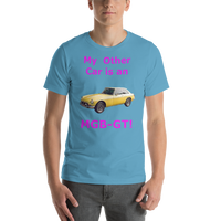 Bell and Canvas Short-Sleeve Unisex T-Shirt: MGB-GT magenta text