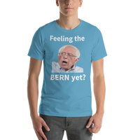 Bella and Canvas Short-Sleeve Unisex T-Shirt: Feeling the Bern yet white text