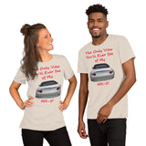 Bella and Canvas Short-Sleeve Unisex T-Shirt: Only view MX-5 red text