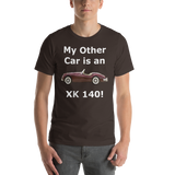 Bella and Canvas Short-Sleeve Unisex T-Shirt: XK 140 white text
