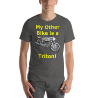 Bella and Canvas Short-Sleeve Unisex T-Shirt: Triton yellow text
