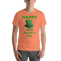Bella and Canvas Short-Sleeve Unisex T-Shirt: St Patricks Tophat