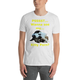 Gildan Short-Sleeve Unisex T-Shirt: Kitty Porn 2 Yellow Text