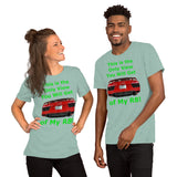 Bella and Canvas Short-Sleeve Unisex T-Shirt: Only View R8 green text