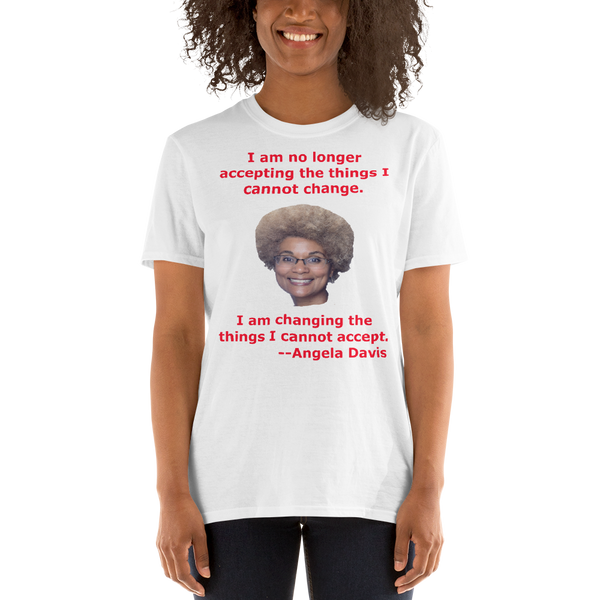 Gildan Short-Sleeve Unisex T-Shirt: Angela Davis quote red text