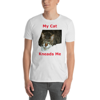 Gildan Short-Sleeve Unisex T-Shirt: kneads me Domestic red text