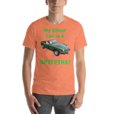 Bella and Canvas Short-Sleeve Unisex T-Shirt: Spitfire green text