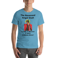 Bella and Canvas Short-Sleeve Unisex T-Shirt: The Reverend Angel Dust Black Text