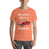 Bella and Canvas Short-Sleeve Unisex T-Shirt: Bugeye white text