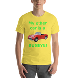 Bella and Canvas Short-Sleeve Unisex T-Shirt: Bugeye  green text
