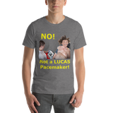 Bella and Canvas Short-Sleeve Unisex T-Shirt: Pacemaker Yellow text
